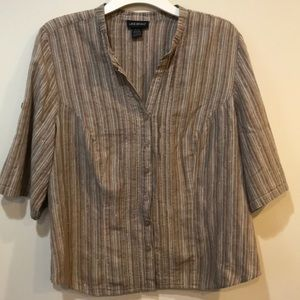 Shiny Lane Bryant button down shirt